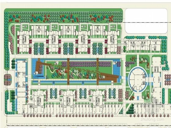 [北京]特色水景现代高档住宅小区景观规划方案(知名设计)