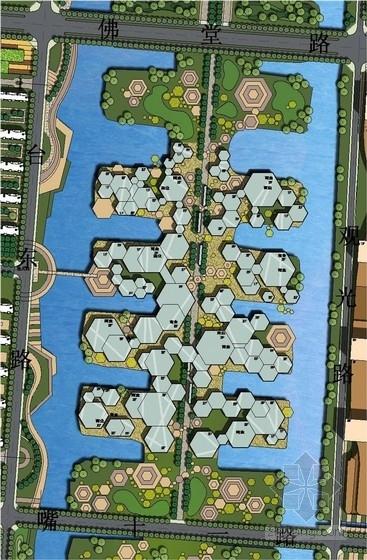 低碳知名地产规划及单体设计总平面图