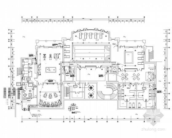 四层高级商务会馆全套电气施工图纸