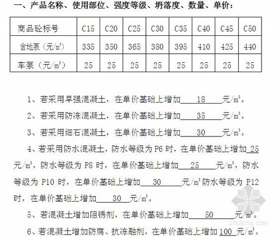 [山东]商品混凝土采购合同(9页)