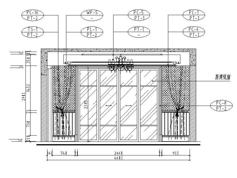 [成都]精品3层别墅样板间室内设计施工图(含效果图、材料表)_5