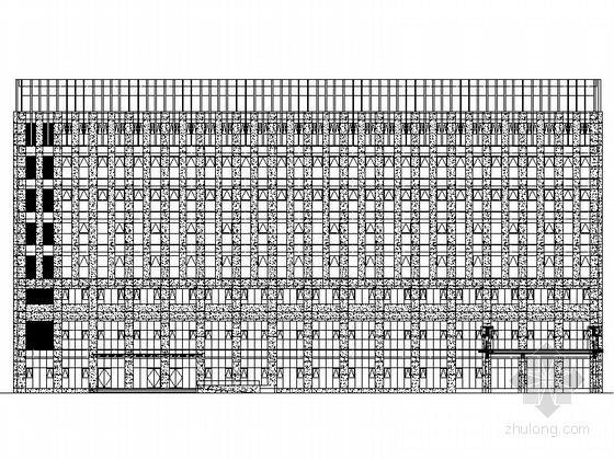 [上海]多层行政综合服务中心建筑施工图(含各栋施工图纸 效果图)