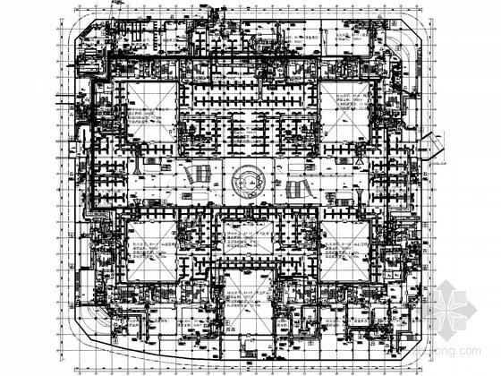 [上海]商务休闲广场空调通风全套施工图(5栋楼、24万平)