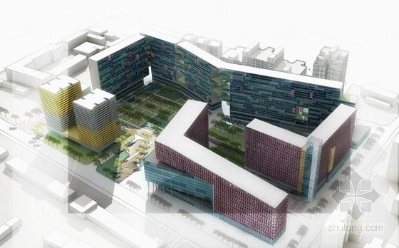 [北京]现代风格商务住宅小区概念设计(两个方案)
