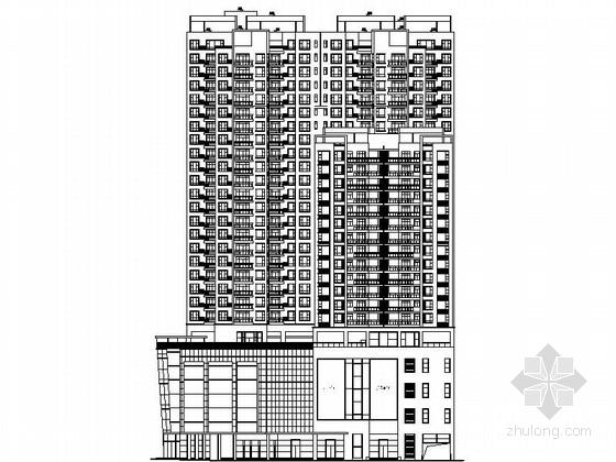 [广东]某二十四层商住楼建筑施工图(含效果图)
