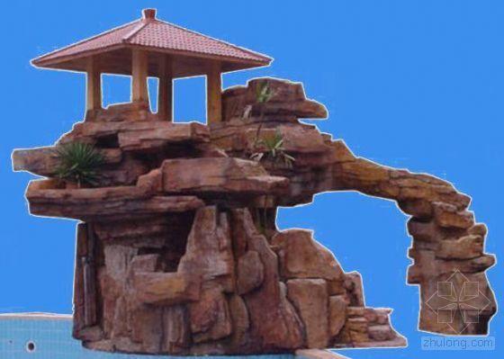 景观景石和假山ps背景素材