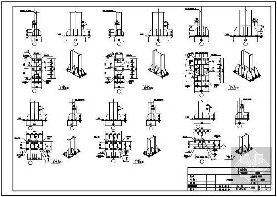 某轻钢办公楼柱脚节点构造详图