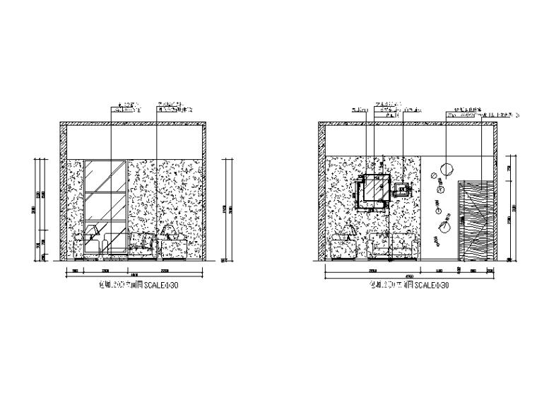 某现代风格西餐厅设计CAD施工图(含实景图)_5
