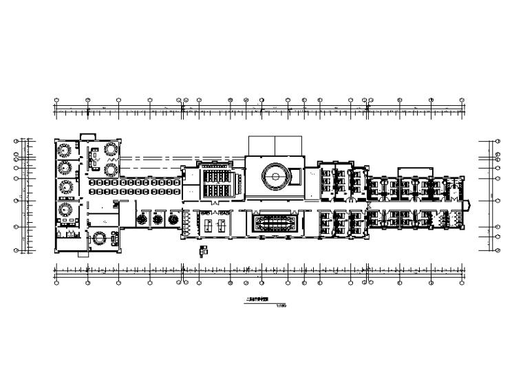 [黑龙江]旅游度假服务区综合楼室内设计CAD施工图(含效果图)