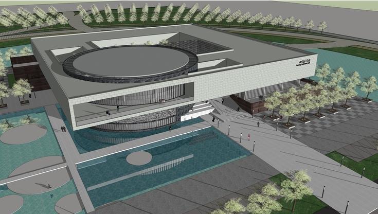 现代大型展览馆与室内设计sketchup模型