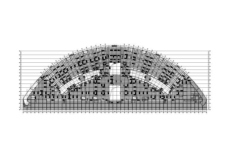 火车站地下商业建筑施工图_建筑结构水暖电
