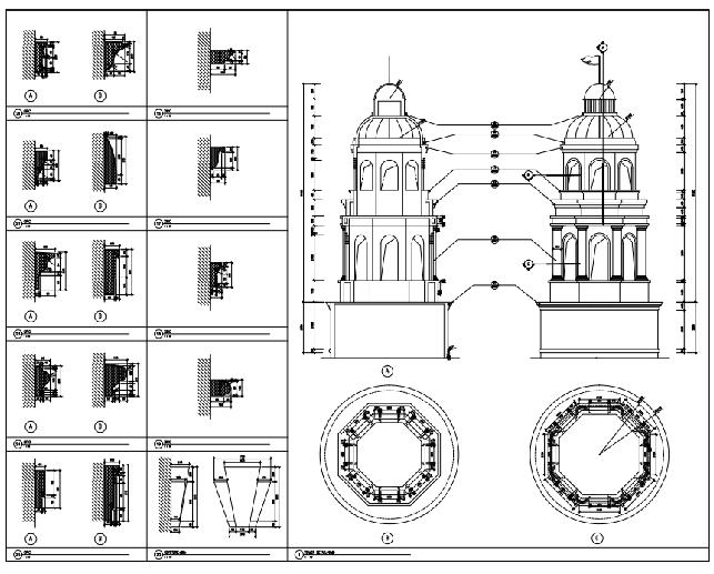 [云南]安宁温泉国际会议商业扩充设计方案文本(PDF)-细节大样图