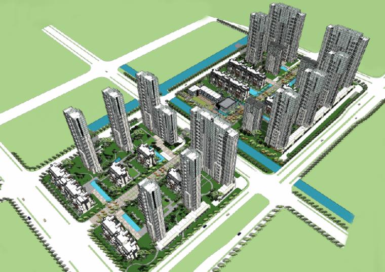 [江苏]南京市建邺区多地块居住区规划及建筑设计方案文本(PDF)