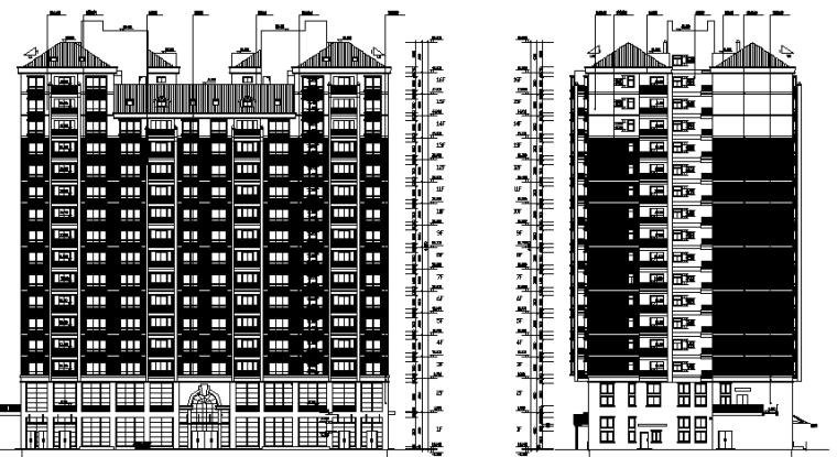 湘江明珠框剪高层住宅平立面图