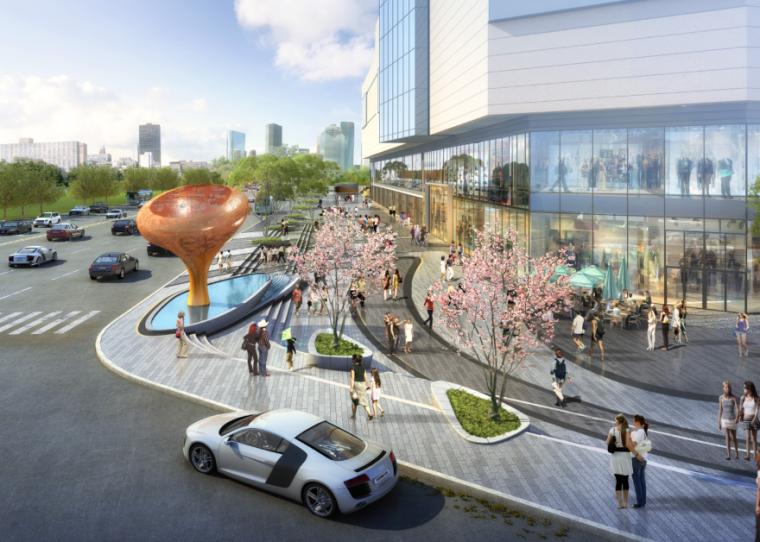 [四川]龙湖紫宸商业项目景观设计方案 A-4 效果图