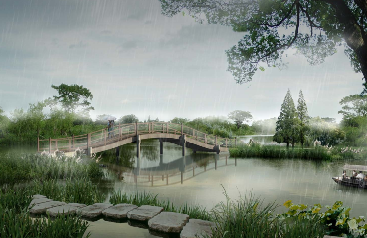 景观桥效果