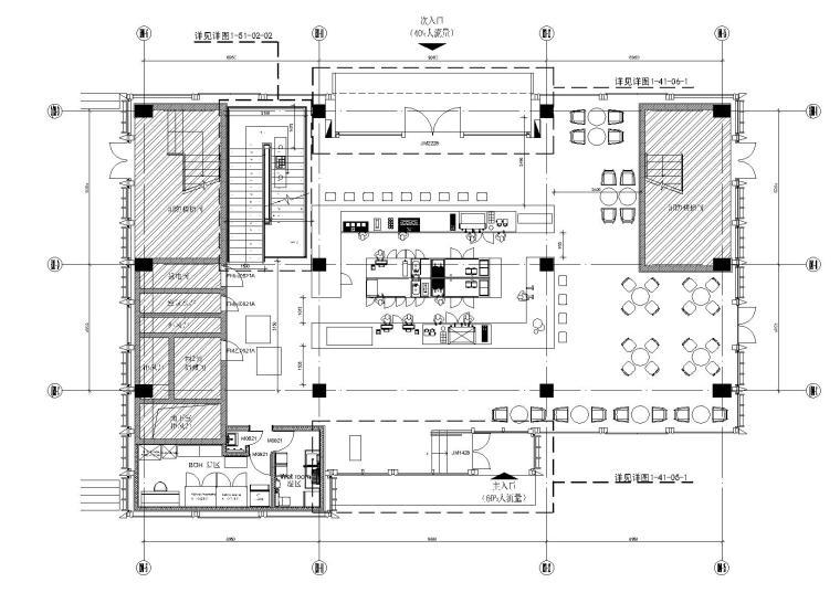 [深圳]万象城星巴克咖啡店室内装修效果图+施工图+消防图