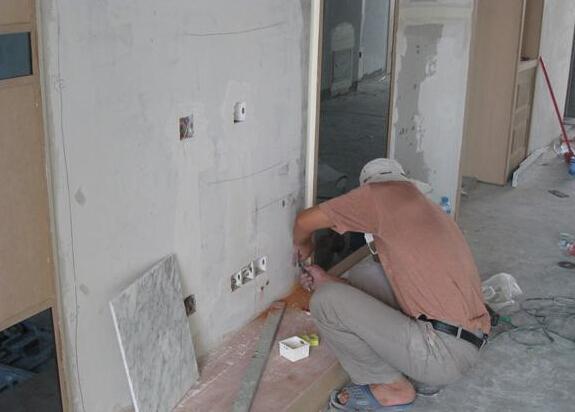 大理石背景墙的安装过程