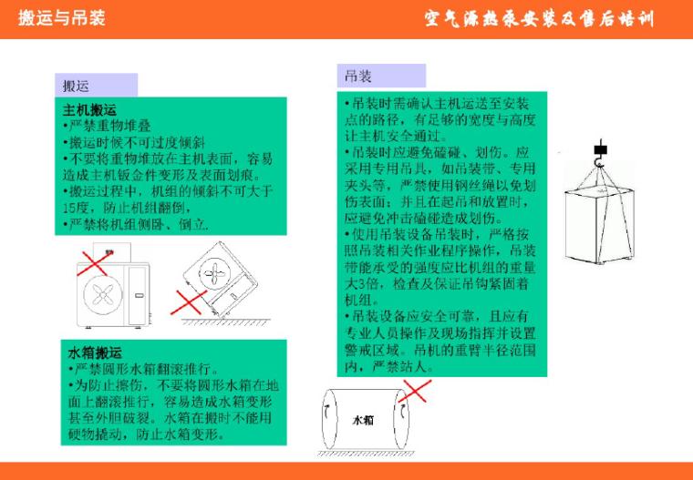 空气源热泵热水机组安装调试及故障排除(84页PPT)