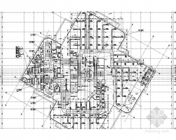 [湖南]多层办公塔楼建筑空调系统设计施工图(含消防)
