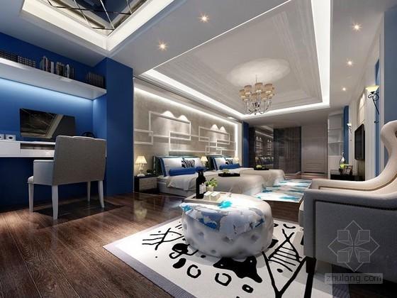 酒店标准房3D模型下载