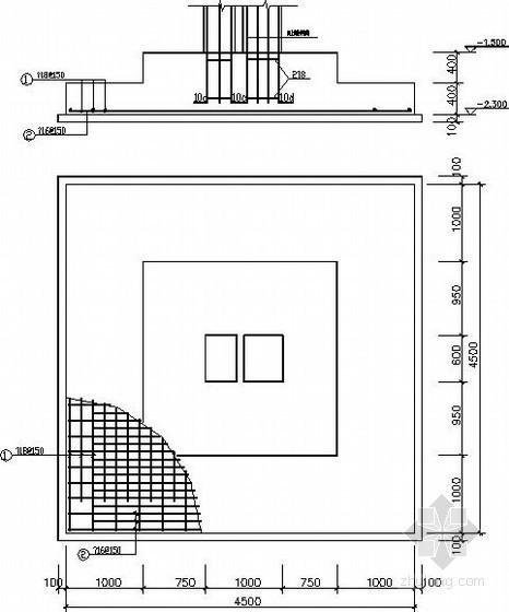 筏板基础及条形基础节点构造详图