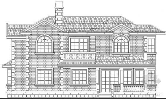 某二层欧式别墅建筑方案(户型一)
