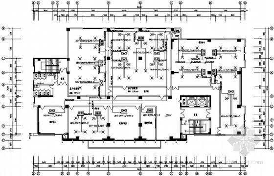 [咸宁]某房产交易大楼空调设计图纸