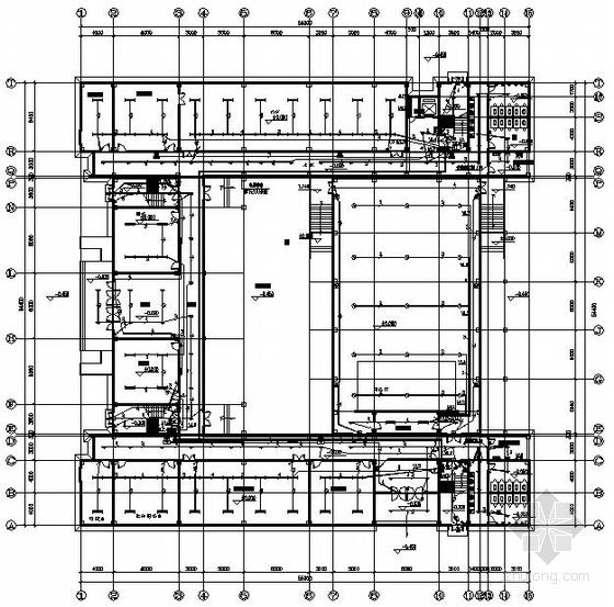 某中学四层图书馆电气图纸