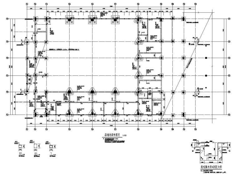 [浙江]地上二层框架结构体育馆结构施工图