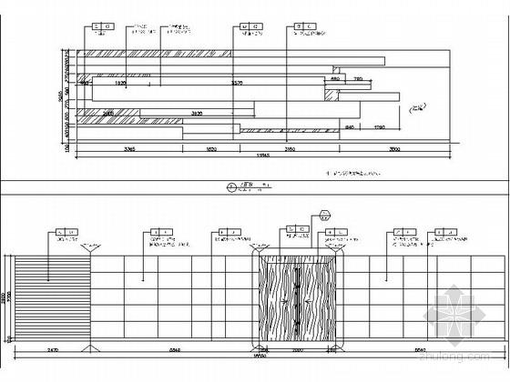 [瑞金]新亚洲别墅群高档售楼处室内装修施工图(含效果)展厅影视厅立面图