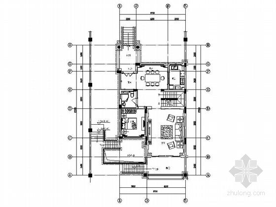 [启东]旅游度假区奢华欧式三层别墅样板装修图(含方案)