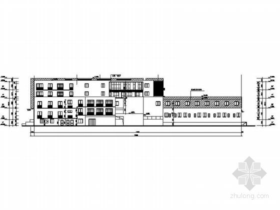 现代风格多层住宅区规划设计立面图