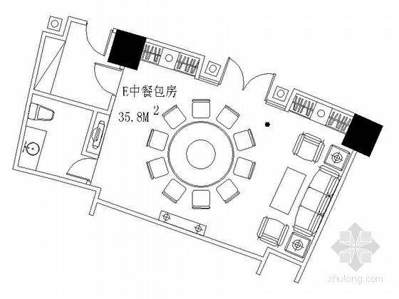 [成都]现代豪华酒店中餐包间装修施工图