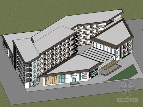 现代小旅馆SketchUp模型下载