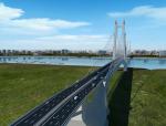 双塔双跨钢桁梁悬索桥投标施工动画演示