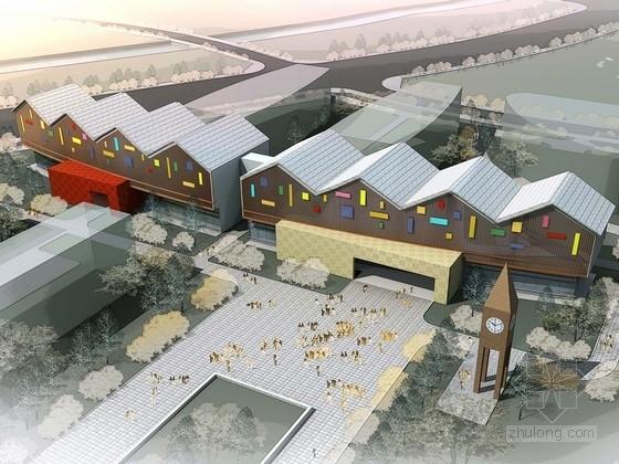 [江苏]当代乡土院落式小学校园规划及建筑设计方案文本