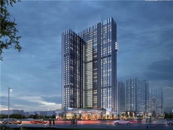 [山东]现代风格超高层办公楼设计方案文本(知名设计院)