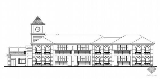 某居住小区二层六班幼儿园建筑设计方案(有效果图)
