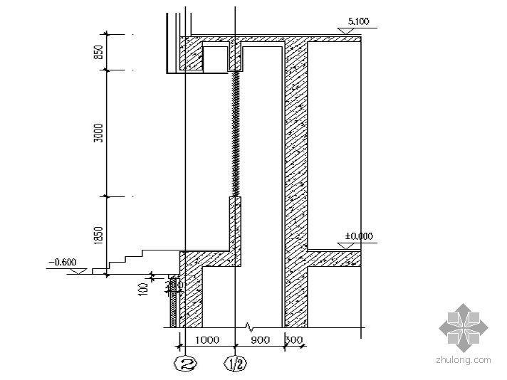 东北某十八层综合大厦(带换热站)-风井详图