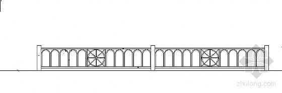 特色铁艺围墙施工图