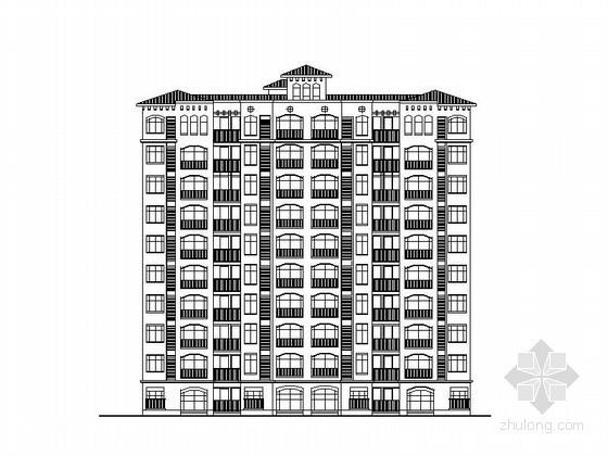 某十层教师公寓建筑方案图(2套)