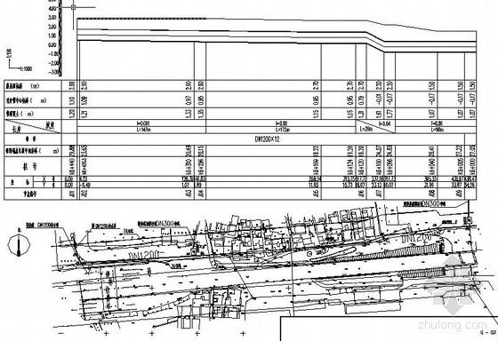 某水厂扩建管网1300米段敷设工程施工图