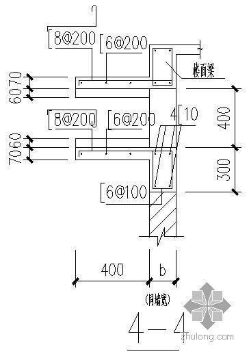 空调机搁板配筋节点资料下载-某空调机搁板构造大样节点构造详图