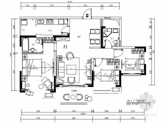 [攀枝花]经典中式三居室样板房装修图(含效果)