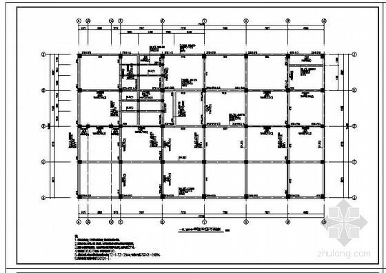 某多层门式刚架带吊车厂房结构设计图
