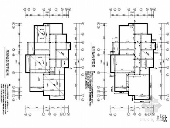 二层砌体结构坡屋面别墅结构施工图(桩基础)