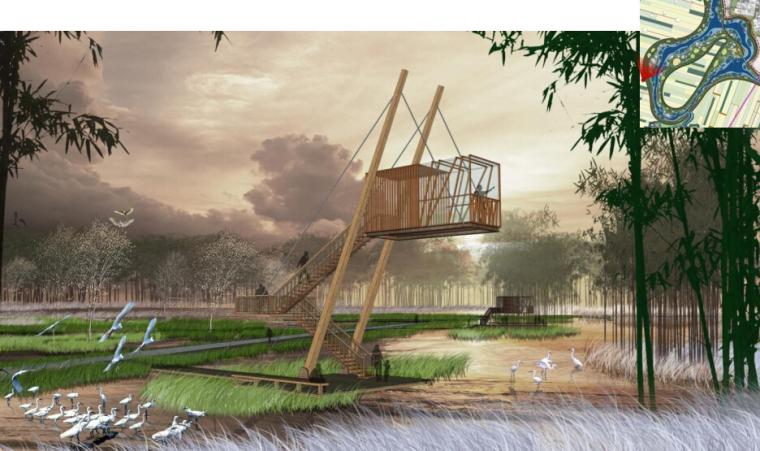 [辽宁]国家试点湿地公园景观规划设计文本-观鸟亭效果图