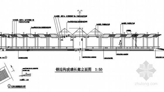钢结构玻璃长廊施工详图