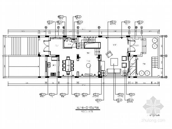 [上海]清新脱俗新中式别墅室内施工图(含效果图)